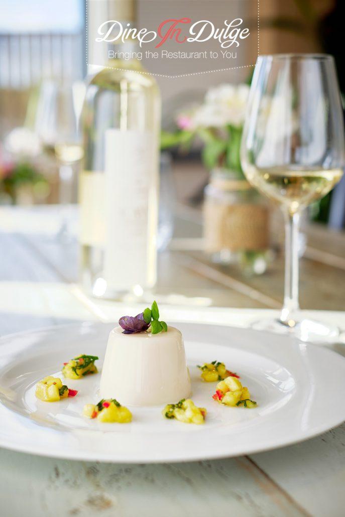 Thai Basil Panna Cotta with Mango Salsa – Private Chef Menu Gallery